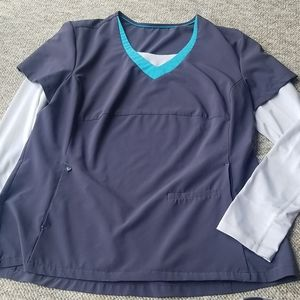 Womens scrub top with sleeves